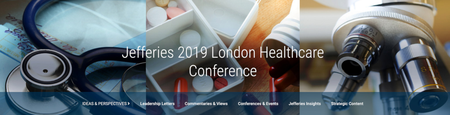Jefferies Healthcare Conference banner